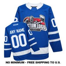 EC-EF066 Custom Your Hockey Jerseys (Any Logo Any Number Any Name) Blue