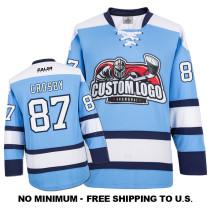 EC-E004 Custom Your Hockey Jerseys (Any Logo Any Number Any Name) Sky Blue