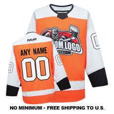 EC-EF094 Custom Your Hockey Jerseys (Any Logo Any Number Any Name) Orange