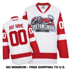 EC-E008 Custom Your Hockey Jerseys (Any Logo Any Number Any Name) White