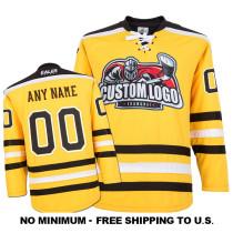 EC-E032 Custom Your Hockey Jerseys (Any Logo Any Number Any Name) Yellow