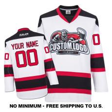EC-E072 Custom Your Hockey Jerseys (Any Logo Any Number Any Name) White