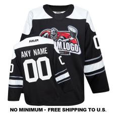 EC-EF062 Custom Your Hockey Jerseys (Any Logo Any Number Any Name) Black