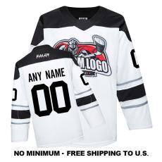 EC-EF063 Custom Your Hockey Jerseys (Any Logo Any Number Any Name)White