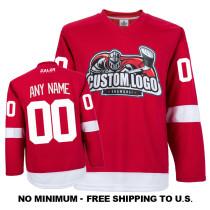 EC-E007 Custom Your Hockey Jerseys (Any Logo Any Number Any Name) Red