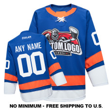 EC-EF092 Custom Your Hockey Jerseys (Any Logo Any Number Any Name) Blue