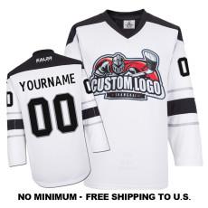 EC-E063 Custom Your Hockey Jerseys (Any Logo Any Number Any Name) White