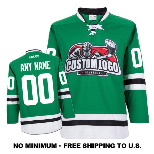 EC-E019 Custom Your Hockey Jerseys (Any Logo Any Number Any Name) Green