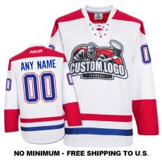 EC-E064 Custom Your Hockey Jerseys (Any Logo Any Number Any Name) White