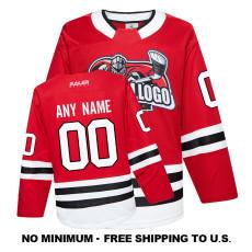 EC-EF022 Custom Your Hockey Jerseys (Any Logo Any Number Any Name)Red