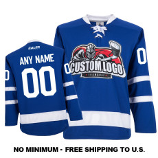 EC-E066 Custom Your Hockey Jerseys (Any Logo Any Number Any Name) Blue