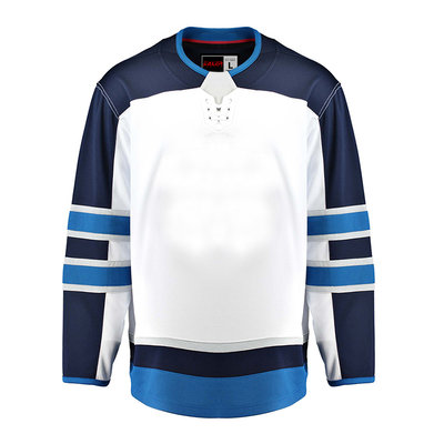 Winnipeg Jets EALER Blank Hockey Jerseys Away E080 80d89d87875