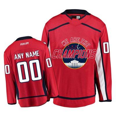 01b63c7f869  WE ARE THE CHAMPION  Washington Capitals Fans Hockey Jerseys Red EFW01.