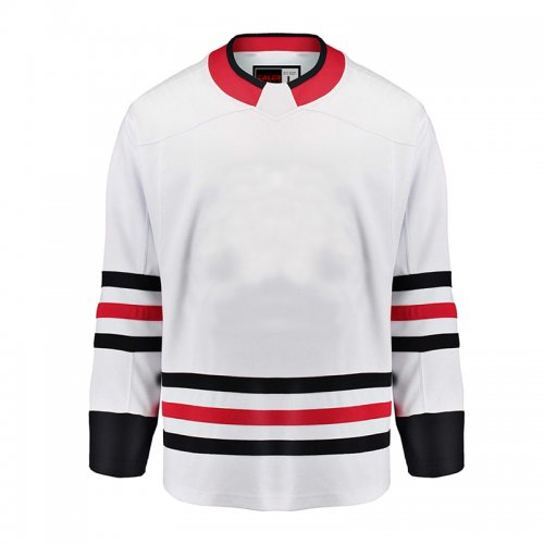 new style 999c5 0e154 Chicago Blackhawks EALER Blank Hockey Jerseys Away E009B