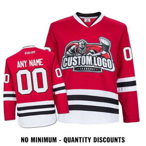 buy online 233e1 feb33 Custom Your Hockey Jerseys (Any Logo Any Number Any Name) Chicago  Blackhawks Red ECC02