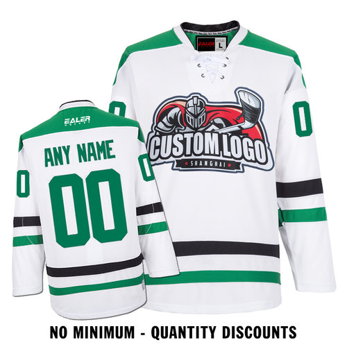 low priced f8ab4 13afd Custom Your Hockey Jerseys (Any Logo Any Number Any Name) Dallas Stars  White ECD02