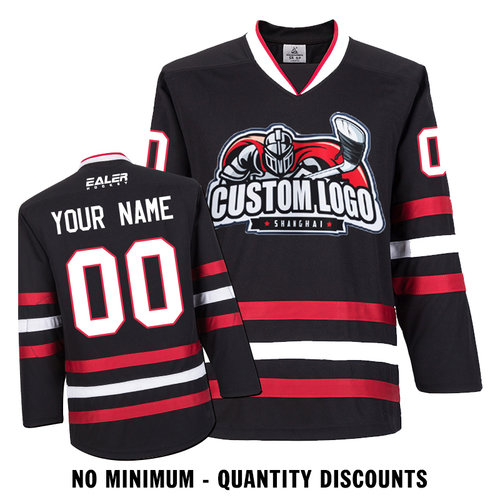 Custom Your Hockey Jerseys (Any Logo Any Number Any Name) Chicago  Blackhawks Black ECC01 aeaf32014