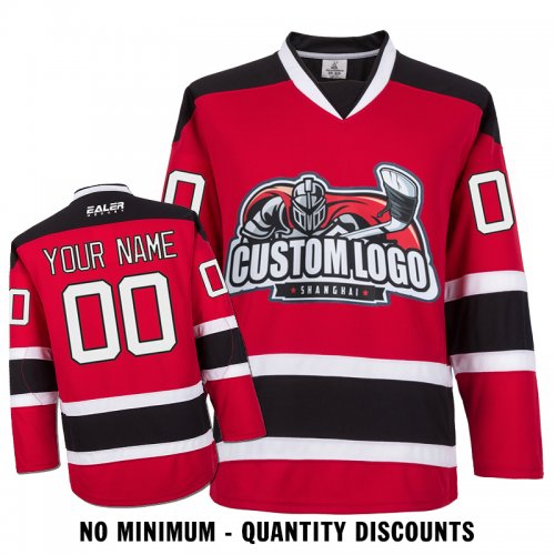 Custom Your Hockey Jerseys (Any Logo Any Number Any Name) New Jersey Devils  Red ECN01 d4c65c9c7