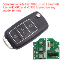 Standare remote key B01-Luxury 3 button remote key  For KD300,KD900,URG200,mini KD and KD-X2 generate new keys ,For produce any model  remote
