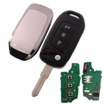 For Renault 3 Button flip remote PCF7961 chip-434MHZ FCCID:CWTWB1G767   for Renault Captur/Megane 3