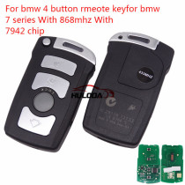 For Bmw 4 button remote key for bmw 7 series With ID46 PCF7942 868mhz
