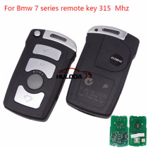 For Bmw 4 button remote key for bmw 7 series With ID46 PCF7942 chip 315mhz