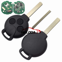 For Benz 3 button remote key with 433mhz ID46 PCF7941 Chip ( Mercedes Benz Smart )