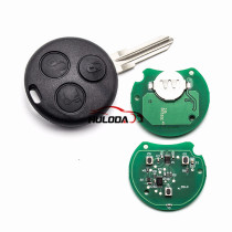 For Benz 3 button remote key with 433Mhz  Mecerdes Benz Smart 433Mhz