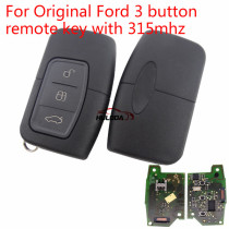 For Ford 3 button original remote key with 315mhz 5L17 01  3M5T-15K601-EA