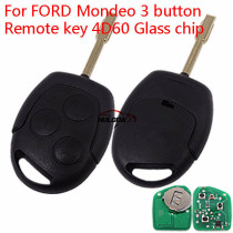 For Ford Mondeo 3 button Remote key with  434MHZ  and 4D60  chip