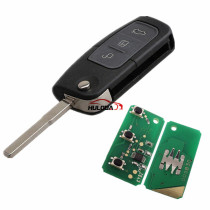 For Ford Focus 3 button Remote key with  434MHZ  and 4D63 (80bit) chip