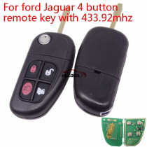 For Ford Jaguar 4 button remote key with 433mhz 4D60 +DST40 Chip FCCID: NHVWB1U241 Part Number: 1X43-15K601-AE
