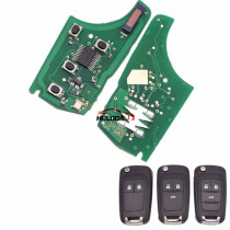 For Chevrolet unkeyless remote key with 433MHZ, with 7941 chip ,2;3;3+1button key, please choose which key shell in your need