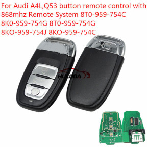 For Audi A4L, Q5 3 button remote key with 868Mhz and 7945 Chip
