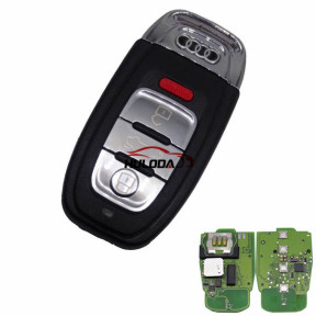For Audi 3+1 button keyless remote key with 315mhz For Audi A6, A8, Q3,Q5,Q7, NPX F7945AC1500 CMK008 05 Tn617381