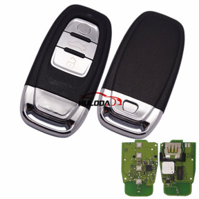 For Audi 3 button keyless remote key with 868mhz For Audi A6, A8, Q3,Q5,Q7,  NPX F7945AC1500 CMK008 05 Tn617381only your remote key is like this, all remote key can use