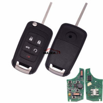 Chevrolet keyless 4+1 button remote key with 315mhz 7952 chip
