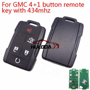 For GMC 4+1 button remote key with 434mhz only has remote function , no ignition fucntion