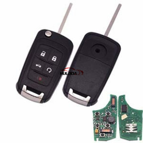 For buick keyless 4+1 button remote key with 434mhz