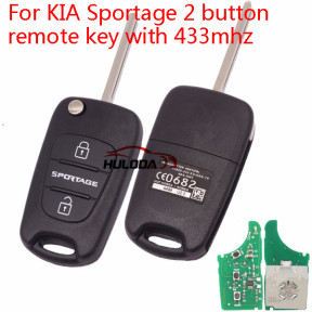For KIA Sportage 2 button remote key with 433mhz