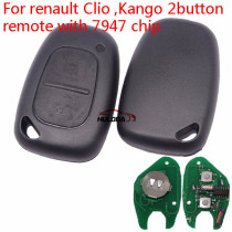 For Renault 2 button remote key with 433Mhz and ID46  PCF7947  (After 2000 year car)