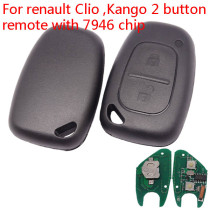 After market for Renault Trafic/Master/Kango  2 button remote key with 433Mhz and  ID46  PCF7946