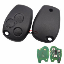 Original For Renault 3 button remote key with 433mhz & 7961(HITAG AES) chip no blade