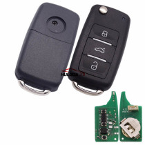 For VW style 3 button remote key B08-3 for KD300 and KD900 to produce any model  remote