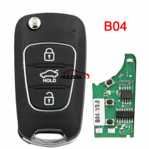 For Hyundai style 3 button remote key B04 For KD300,KD900,URG200,mini KD and KD-X2 generate new keys ,For produce any model  remote