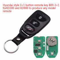 For Hyundai style 3+1 button remote key B09-3+1 for KD300 and KD900 to produce any model  remote