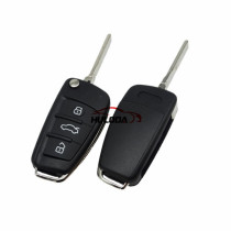 For Audi A6L Q7 3 button remote key with 8E chip & 434mhz FSK 4FO837220M without handsfree system 2004-2009