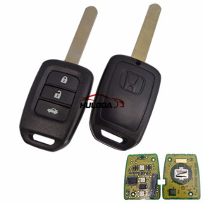 For Honda 3 button original remote key with 433.92mhz chip:47-7961XTT  the PCB is original , key shell is after market