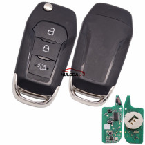 For Ford ESCORT 3 button remote key with Hitag Pro chip-434mhz with HU101 blade