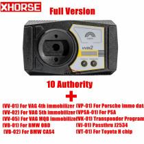 Xhorse VVDI2 V6.6.0 VVDI2 Full Version Commander Key Programmer VVDI Full Version with ID48 96Bit Copy & VAG MQB Immobilizer